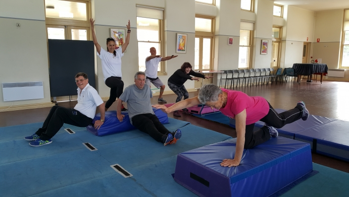 Fitness classes for over 55s